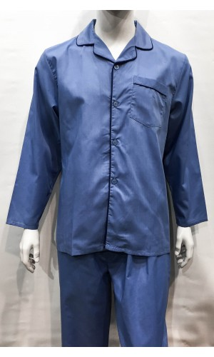 18641-Pyjama long HUTSON HARBOUR bleu