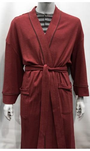 18714-Robe de chambre MAJESTIC  bourgogne