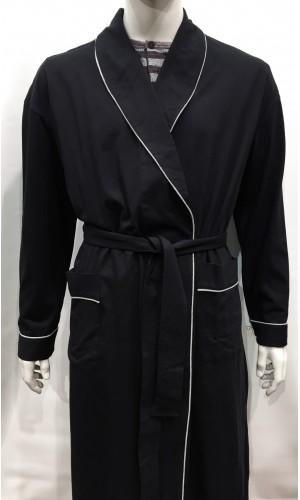18769-Robe de chambre MAJESTIC noir