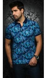 Polo AU NOIR GENTRY turquoise