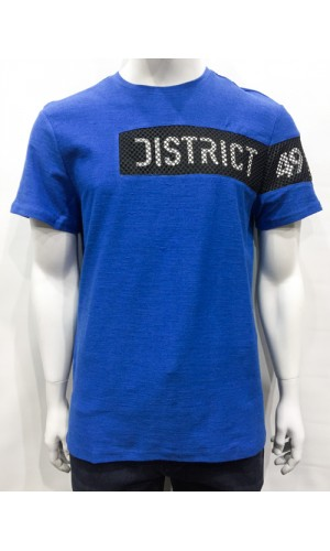 T-shirt DISTRICT 49 bleu mix