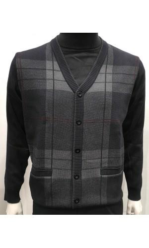 18436-Cardigan PLATINUM noir