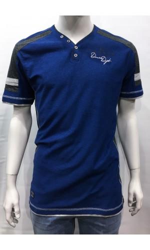 18579-T-shirt KARBUR bleu