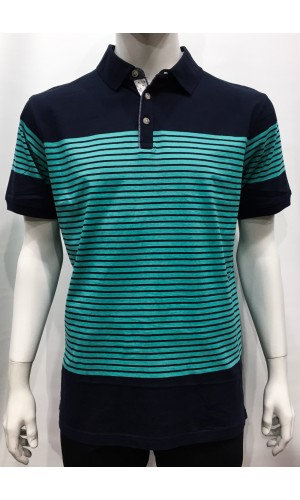 18693-Polo PRIVATE MEMBER  marine/menthe