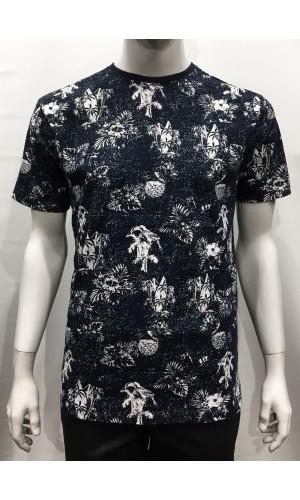 18808-T-shirt POINT ZERO navy