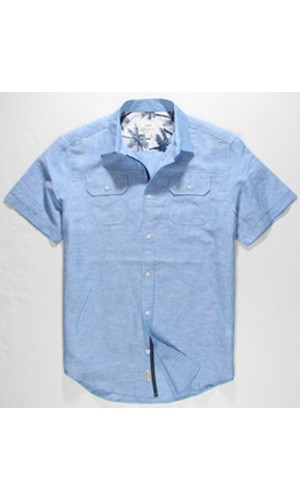 Chemise Private Member turquoise mix