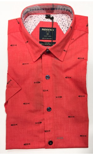 Chemise POINT ZERO red mix