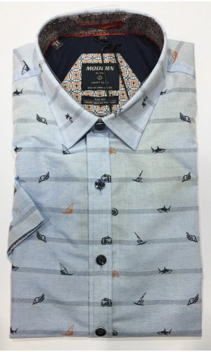 Chemise POINT ZERO sky mix