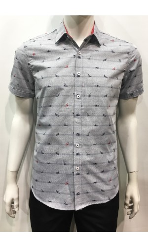Chemise POINT ZERO grey mix