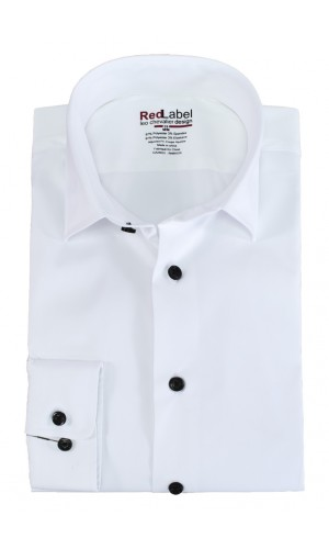 Chemise habillée LEO CHEVALIER RED LABEL blanche