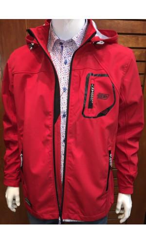 Manteau softshell POINT ZERO  rouge