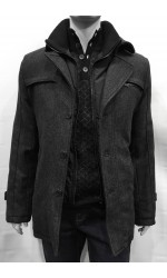 Manteau lainage SOUL OF LONDON charcoal