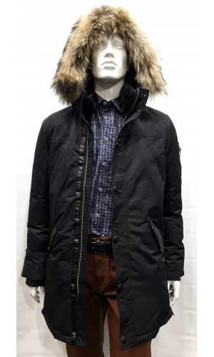 Manteau en duvet POINT ZERO noir