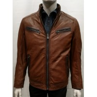 18315-Manteau REGENCY by La marque collection, couleur cognac