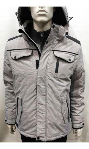 18351-Manteau d'hiver KARBUR, gris pâle