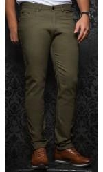 Pantalon sport extensible AU NOIR olive