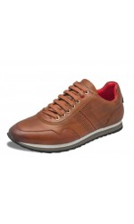 Souliers sneakers AU NOIR JAMES cognac
